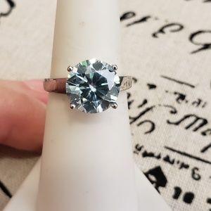 3.45 TCW Ice Blue Moissanite Ring
